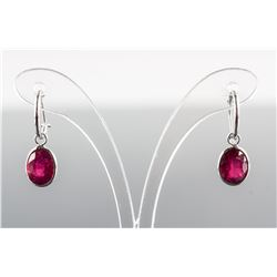 5.15ct Oval Cut Pinkish Red Ruby Earrings CRV $999