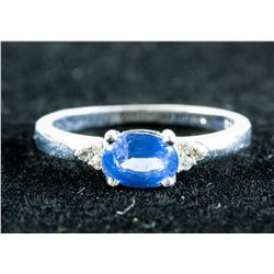 0.90ct Sapphire and 0.06ct Diamonds CRV $3050