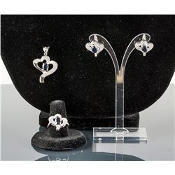 4.50ct Natural Sapphire Jewelry Set CRV $800