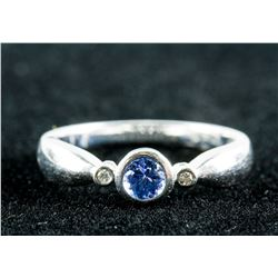 0.30ct Tanzanite & 0.03ct Diamonds Ring CRV $1235