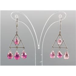 22.00ct Pink Tourmaline Earrings CRV $1900