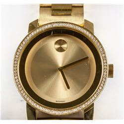 Movado Bold Gold Museum Diamond Watch