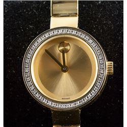 Movado Bold Women's Gold Museum Diamond Watch