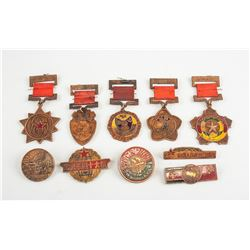 Ten Assorted People's Republic of China Medals