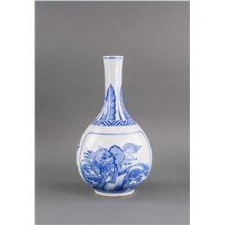Chinese Blue and White Porcelain Vase Kangxi Mark