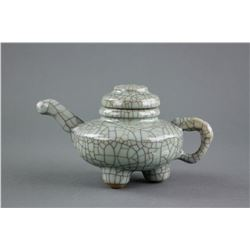 Chinese Song Style Crackle Glaze Porcelain Teapot