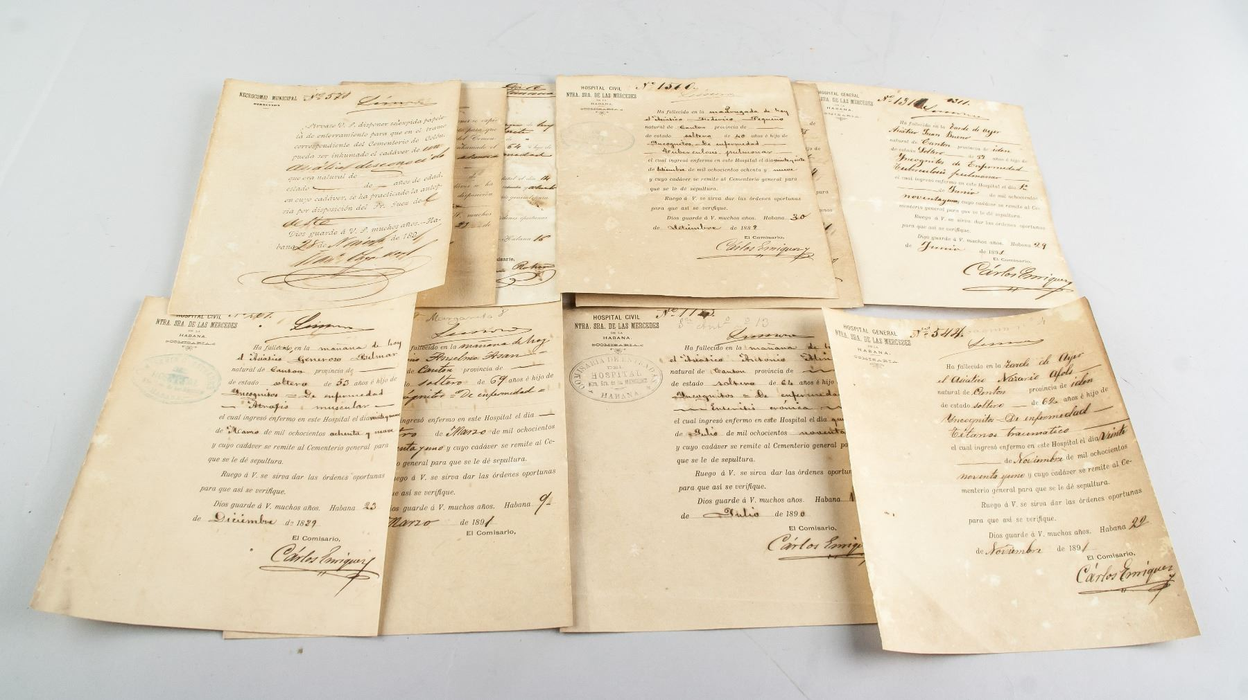 Cuban Death Certificates Of Chinese Slaves