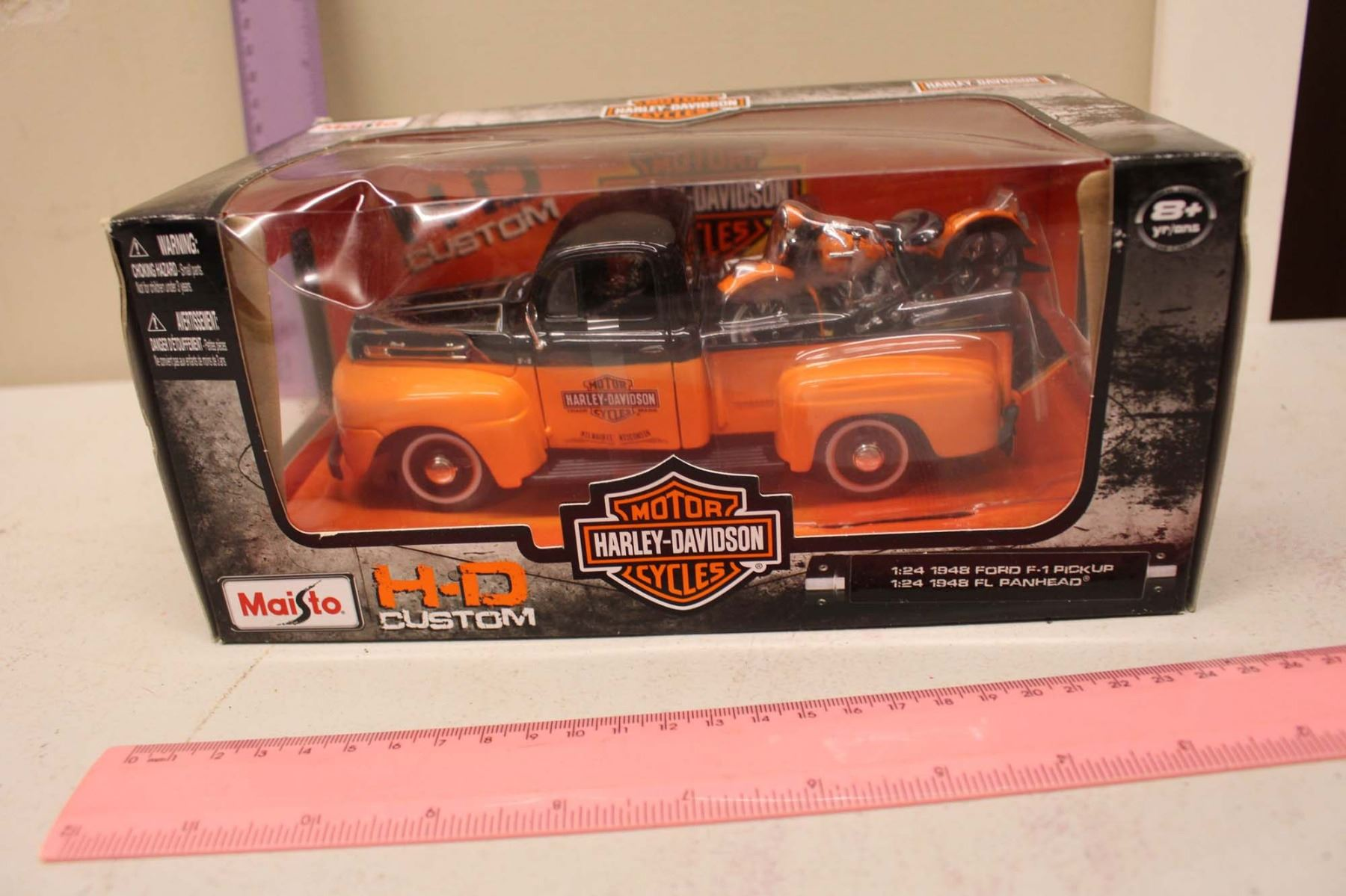 Maisto Harley Davidson 1948 Ford F 1 Pick Up Model 124 Scale Truck Cast S Image 3