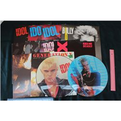 Billy Idol Records And Punk Albums Lot