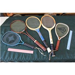 Lot Of Vintage Raquets (5)