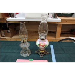 Lot of 2 Oil lamps