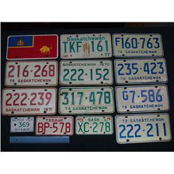 Lot of License Plates (14)(1970,71,72,74,75, 1976 Duplicate, Etc)