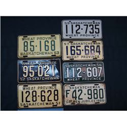 1950's Saskatchewan License Plates (7)