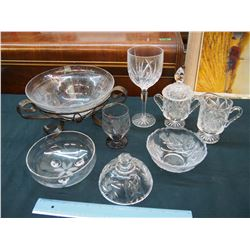 Lot of Glassware: Some Crystal Glass