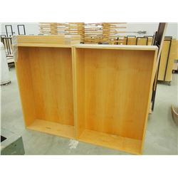"""Wooden Cabinet W/ 5 Shelves 60""""x44""""x10"""" Together"""