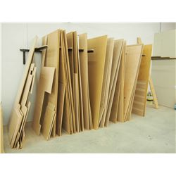 Large Lot Of Assorted Plywood, Various Types And Sizes