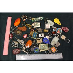 Lot of Assorted Advertising Key Chains