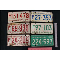 Lot of Saskatchewan License Plates (6)
