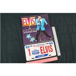 Elvis License Plate & A Elvis 'The Illustrated Record'