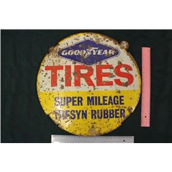 Good Year Tires 'Super Mileage Tufsyn Rubber' Sign
