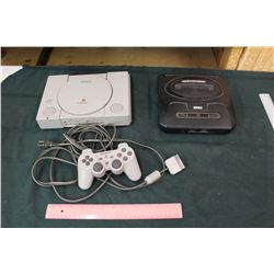 Sony Play-Station w/ Controller and Sega Genesis (unknown Condition)