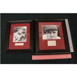 Lot of Vintage Framed Baseball Photos (2)