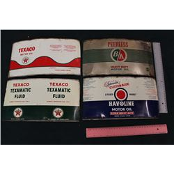 Lot of Flattened Oil Tins (Texaco, BA)