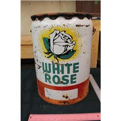 White Rose 5 Gallon Oil Pail
