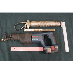 Bosch 18 Volt Reciprocating Saw & A Greaser
