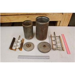 Lot of Vintage Ice Cream Maker Center Canisters (2)