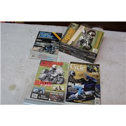 Box of 2000-2010 Cycle Canada Motorcycle Magazines