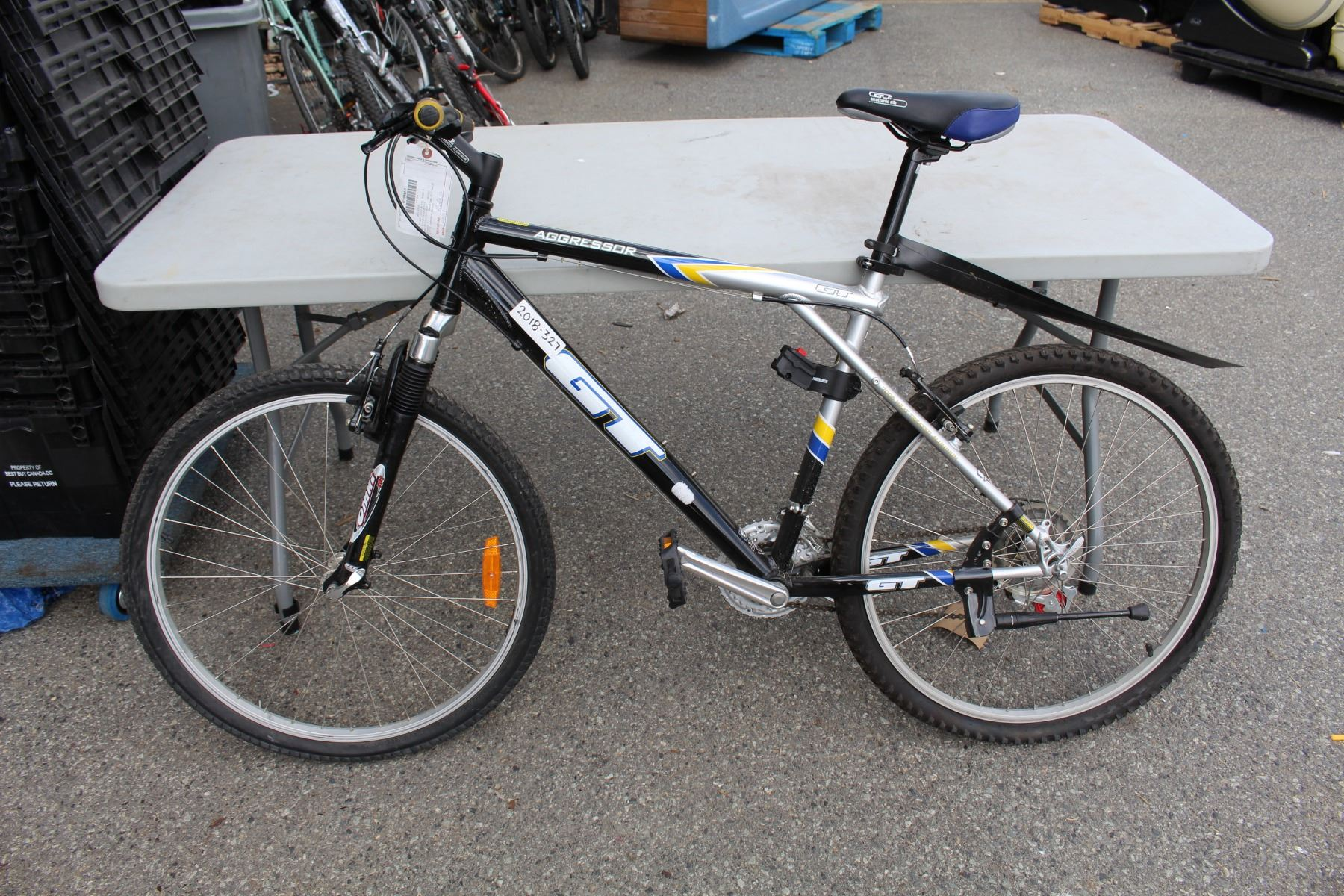 Aggressor Gt Black Yellow And Silver Mens Mountain Bike