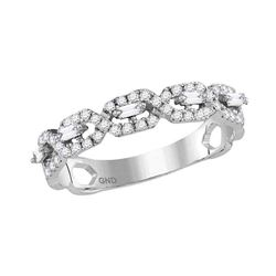 0.35 CTW Diamond Stackable Ring 14KT White Gold - REF-37H5M