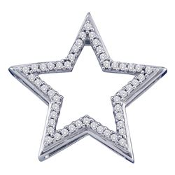 0.15 CTW Diamond Star Outline Pendant 10KT White Gold - REF-18Y2X
