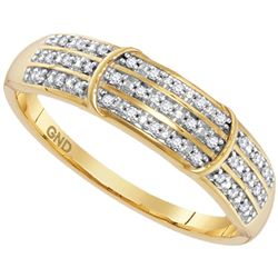 0.10 CTW Diamond Simple Ring 10KT Yellow Gold - REF-14M9H