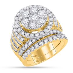 4.9 CTW Diamond Bridal Wedding Engagement Ring 14KT Yellow Gold - REF-524X9Y
