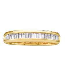 0.25 CTW Diamond Wedding Ring 14KT Yellow Gold - REF-18W2K