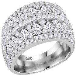 3.01 CTW Princess Diamond Ring 14KT White Gold - REF-341K8W