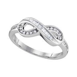 0.20 CTW Diamond Infinity Ring 10KT White Gold - REF-20X9Y