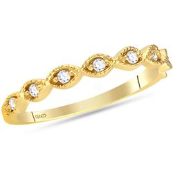 0.10 CTW Diamond Stackable Ring 14KT Yellow Gold - REF-22X4Y