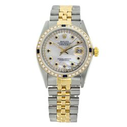 Rolex Pre-owned 36mm Mens String White MOP Two Tone - REF-630H3N