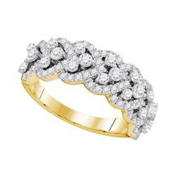 1.36 CTW Diamond Spade-shape Ring 14KT Yellow Gold - REF-146X9Y