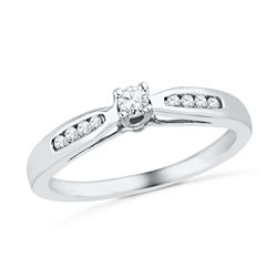 0.20 CTW Diamond Solitaire Bridal Ring 10KT White Gold - REF-24Y2X