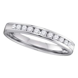 0.25 CTW Diamond 2.5mm Wedding Ring 14KT White Gold - REF-33X7Y