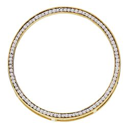 0.50 CTW Diamond Circle Outline Pendant 14KT Yellow Gold - REF-41W9K