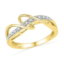 0.10 CTW Diamond Ring 10KT Yellow Gold - REF-16Y4X