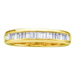 0.50 CTW Diamond Wedding Anniversary Ring 10KT Yellow Gold - REF-24N2F
