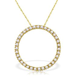 Genuine 0.52 ctw Diamond Anniversary Necklace Jewelry 14KT White Gold - REF-70K4V