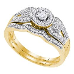 0.33 CTW Diamond Bridal Wedding Engagement Ring 10KT Yellow Gold - REF-49X5Y