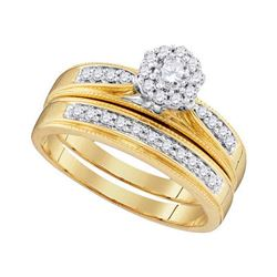 0.40 CTW Diamond Bridal Wedding Engagement Ring 10KT Yellow Gold - REF-48W7K